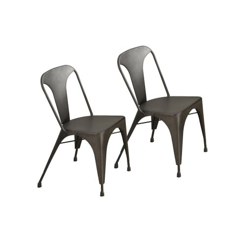 Shop Monarch Specialties I 1081 Set Of Two 18 Inch Wide Metal Dining