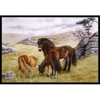 Carolines Treasures BDBA0189MAT Horses in the Meadow Indoor or Outdoor Mat 18 x 27