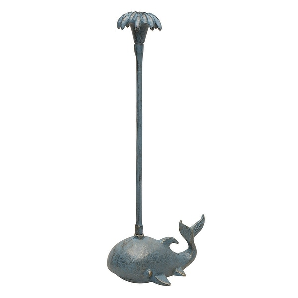 Whale Paper Towel Holder Cast Iron Counter Top Standing Toilet
