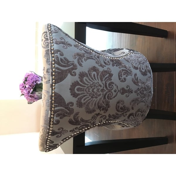 Charmant Shop Cosmo Grey Fan Damask Dining Chair (Set Of 2)   On Sale   Free  Shipping Today   Overstock.com   10364455