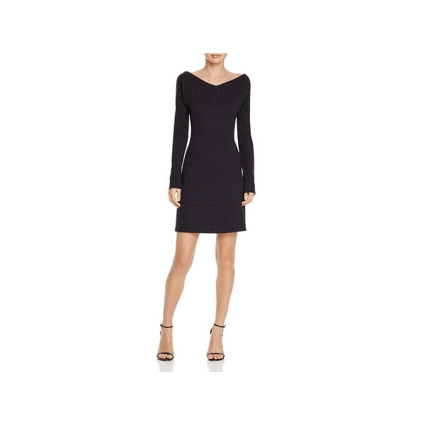 7858d6c088 Shop Theory Womens Mini Dress Houndstooth Print Dinner Party - Free ...