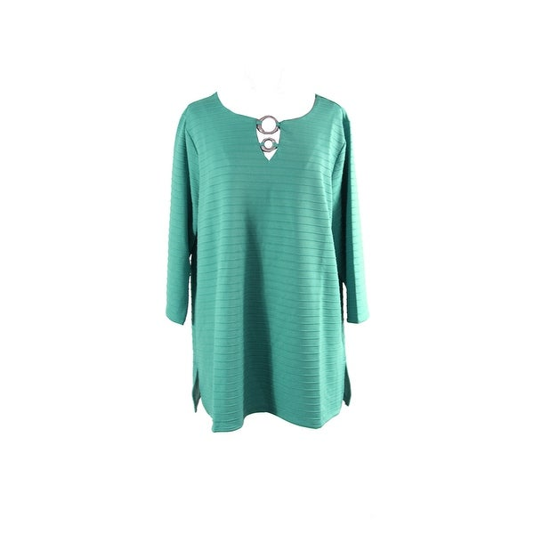 0b7412efc92 Shop Jm Collection Woman Plus Size Mermaid Green Embellished Keyhole ...