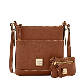 Dooney & Bourke Calf Letter Carrier with Small Coin Case (Introduced by Dooney & Bourke at $195 in Sep 2016) - Amber