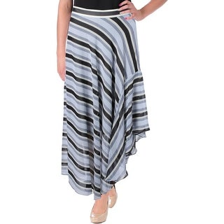 Rachel Rachel Roy Womens Asymmetrical Skirt Chiffon Striped - M