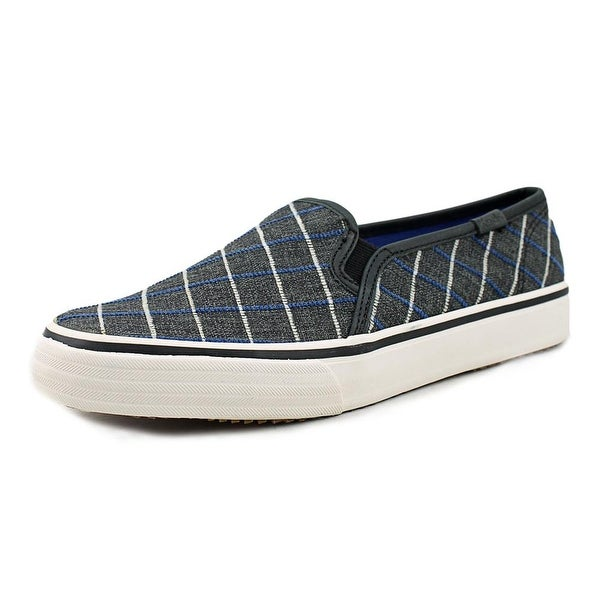 Keds Dbl Deck Window Women Plaid Black Flats