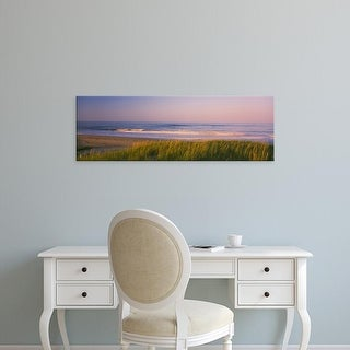 Easy Art Prints Panoramic Image 'Marram grass, Beach, Parker River Wildlife Refuge, Newbury, Massachusetts' Canvas Art