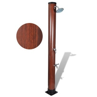 vidaXL 7 ft Pool Solar Shower with Faux Wood Finish