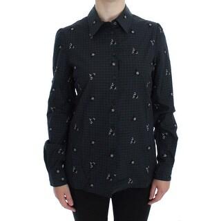 Dolce & Gabbana Dolce & Gabbana Green Checkered Floral Shirt
