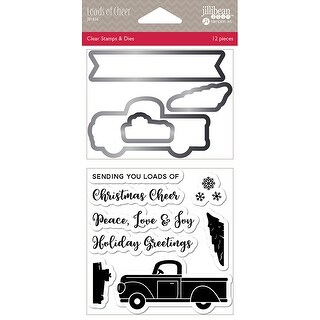 Jillibean Soup Shaker Clear Stamps & Die Set-Loads Of Cheer