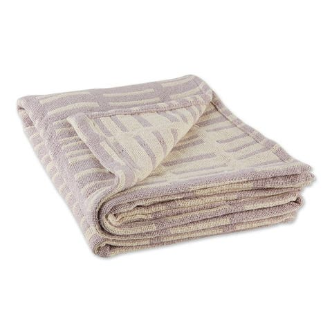 DII Dusty Lilac Urban Jacquard Throw