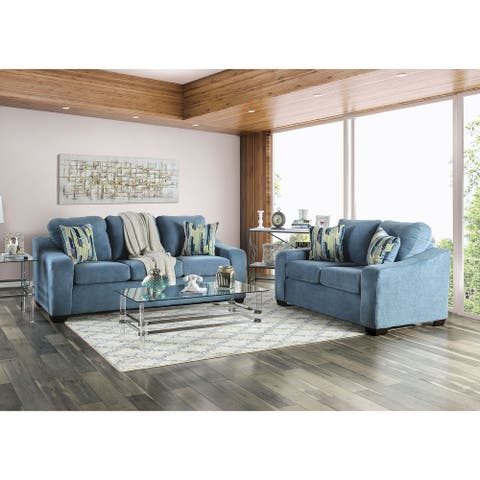 Furniture of America Blev Transitional Chenille 2-piece Living Room Set
