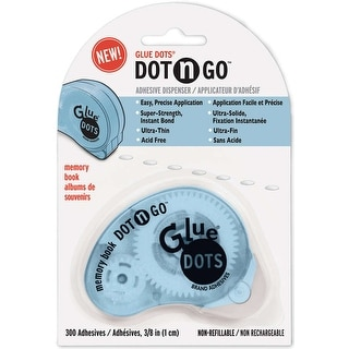 "Glue Dots Clear Dot Disposable Dispenser-Ultra Thin .375"" 300/Pkg"