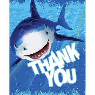 "Club Pack of 96 Shark Splash Whimsical Ocean Themed ""Thank You"" Cards 5"""