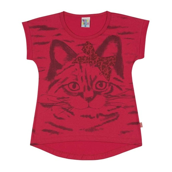 Girls T-Shirt Kids Top Kitten Graphic Tee Pulla Bulla Sizes 2-10 Years