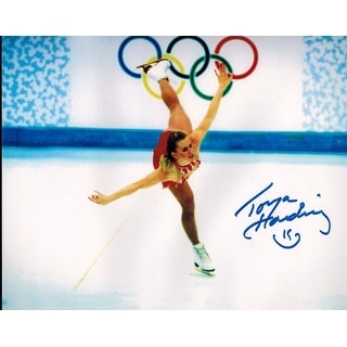 Tonya Harding Autographed Winter Olympics Skating 8x10 Photo