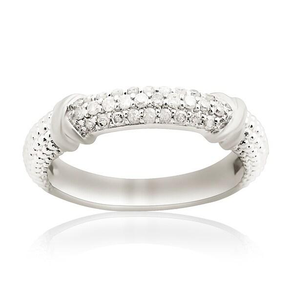 Prism Jewel 0.25Ct Round Natural Diamond Anniversary Ring