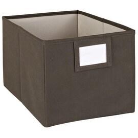 Closetmaid 25067 fabric large Bin, Brown