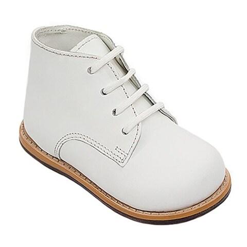 Josmo 8190 Plain Infant Walking Shoes, White - Medium - Size 3.5