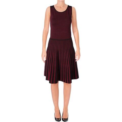Lauren Ralph Lauren Womens Lysari Casual Dress Striped Sleeveless