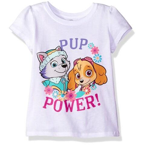Paw Patrol Toddler's Pup Power Short-Sleeved Puff T-Shirt, White