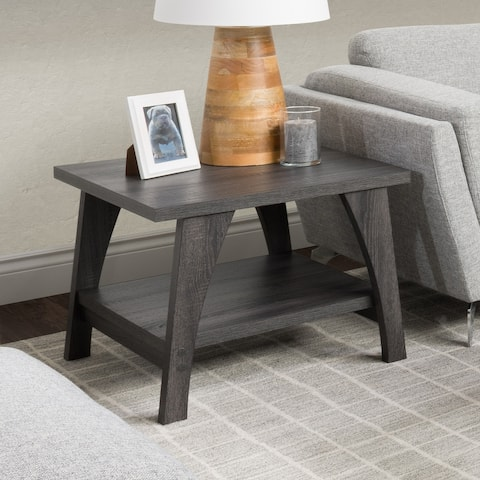 CorLiving Hollywood Side Table with Lower Shelf
