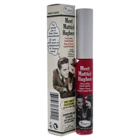 Meet Matte Hughes Long Lasting Liquid Lipstick - Sentimental By The Balm For Women - 0 25 Oz Lip Gloss