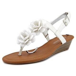 Rampage Ram-Starla Women Open Toe Synthetic White Thong Sandal