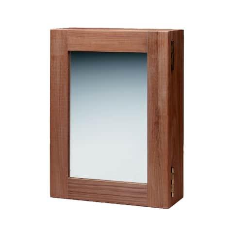 Whitecap teak medicine chest w/ mirror