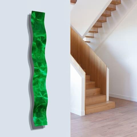 """Statements2000 3D Metal Wall Art Accent Sculpture Modern Abstract Decor by Jon Allen - Wave - 46.5"""" x 6"""""""