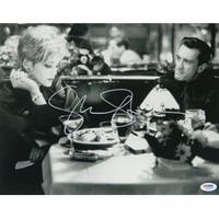Sharon Stone signed Casino 11x14 B&W Photo Dinner with Robert DeNiro Pose (Silver sig) - PSA Hologram (entertainment/movie memor