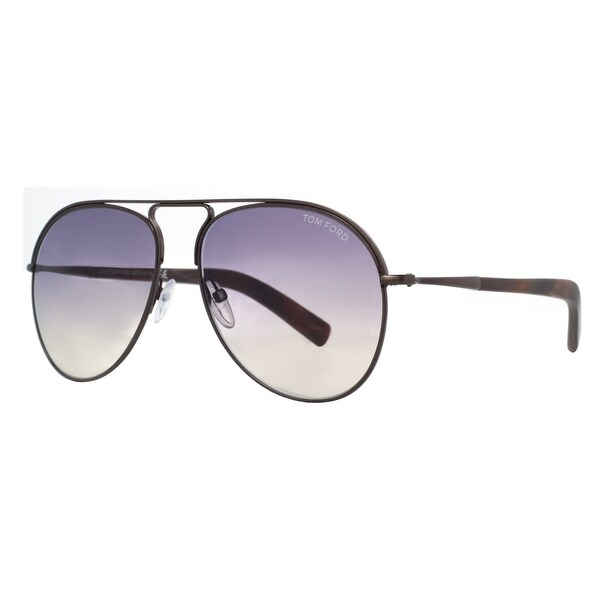 Tom Ford Cody TF448 48Z Brown/Purple Gradient Aviator Sunglasses - Bronze/Brown - 56mm-15mm-145mm