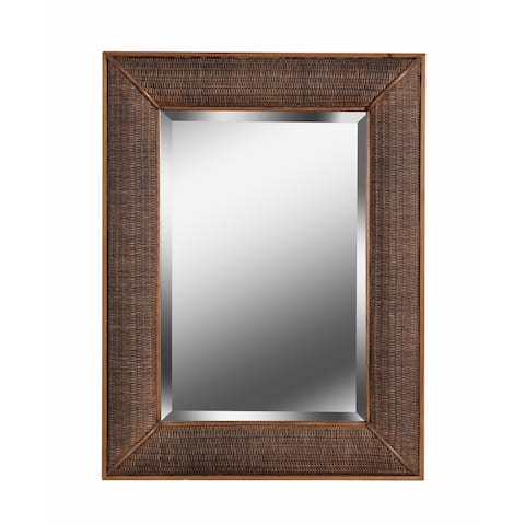 "Andora Wall Mirror with Rustic Frame - 30"" x 40"""