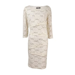 Ronnie Nicole Women's Embellished Tiered Sequin-Lace Dress