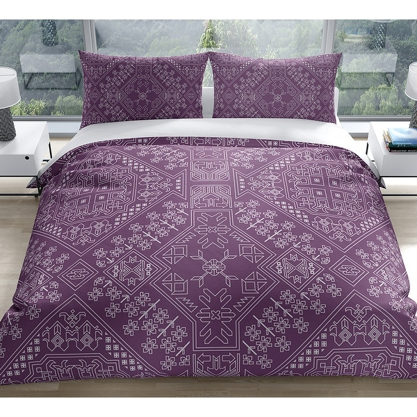 BAYBAR PURPLE Duvet Cover by Kavka Designs. Opens flyout.