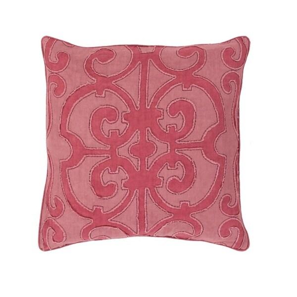 "20"" Princess Dreams Wine and Mauve Purple Decorative Throw Pillow"