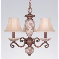 """Classic Lighting 71055 18"""" Glass & Resin Mini-Chandelier from the Tapestry Collection"""