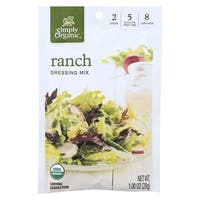 Simply Organic Ranch Salad Dressing Mix - Case of 12 - 1 oz. - 2 Pack