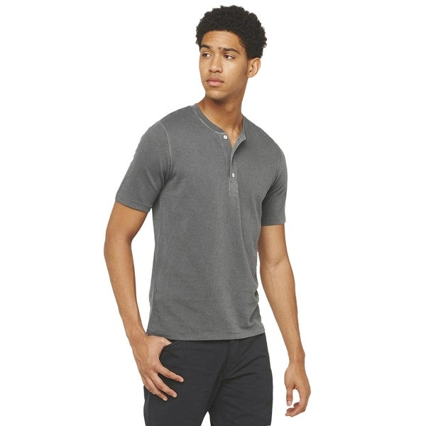 e8f27a69c0 ... billy reid mens arthur ribbed henley tee small t shirt charcoal ...