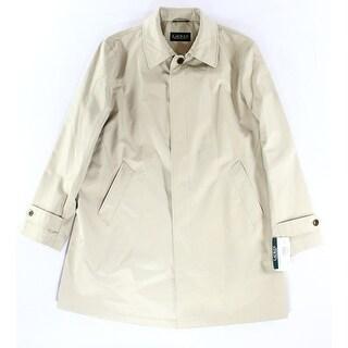Lauren Ralph Lauren NEW Beige Mens Size 42R  Regular Rainwear Coat