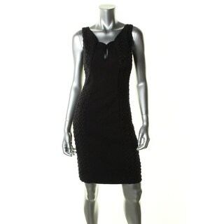 Black Halo Womens Cocktail Dress Crochet Inserts Sleeveless - 6
