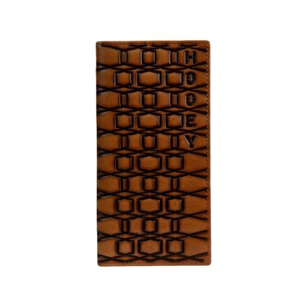 "HOOey Western Wallet Mens Signature Rodeo Tawny Dark Brown - 3 1/2"" x 3/4"" x 7"""