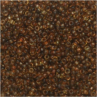 Toho Round Seed Beads 15/0 Y301 - Hybrid Natural Picasso (8 Grams)
