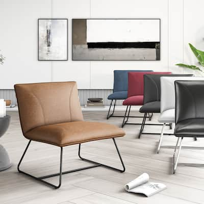 Corvus Soloway Oversize Bonded Leather Lounge Chair