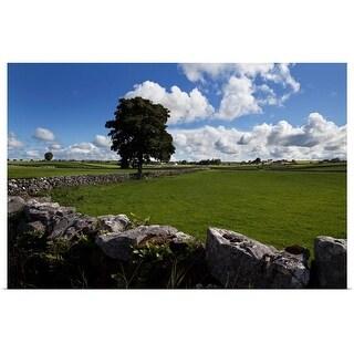 """Pastoral farmland between Clonbur and Ballinrobe, County Mayo, Ireland"" Poster Print"