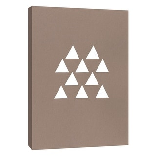 "PTM Images 9-105565  PTM Canvas Collection 10"" x 8"" - ""Contemporary Collage No.12"" Giclee Triangles Art Print on Canvas"