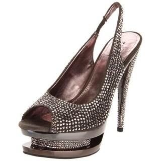 Pleaser Womens Fascinate 654DM Suede Rhinestone Platform Sandals - 6 medium (b,m)