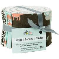 "Fabric Palette Jellies 2.5""X42"" 20/Pkg-Little Forest 10 Designs/2 Each"
