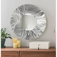 Statements2000 Silver Metal Decorative Wall-Mounted Mirror by Jon Allen - Mirror 104