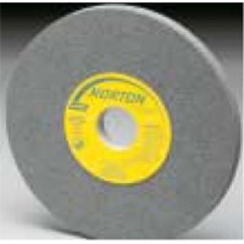 "Norton Gemini Bench and Pedestal Grinding Wheel, Type 01, Round Hole, Aluminum Oxide, Medimum Grit, 1"" Thickness x 6"" Diameter"