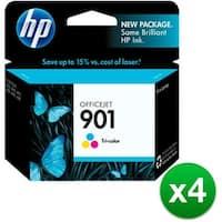 HP 901 Tri-color Original Ink Cartridge (CC656AN)(4-Pack)
